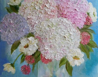 "Oil Impasto Floral Painting,"" Spring Bouquet""  11""x 14"" Original Painting"