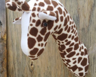 Faux Taxidermy Giraffe/Stuffed Wall Mount/Room Decor/Kids Wall Hanging/Plush Taxidermy/Fake Taxidermy/Faux Taxidermy