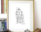 Printable Father John Misty lyric art print Quote - DOWNLOAD