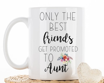 Best friends get promoted to Aunt, Pregnancy Announcement, Baby reveal, aunt gift, sister gift