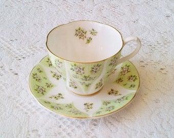 Royal Albert Debutante Series Charm Bone China Tea Cup & Saucer - Made in England