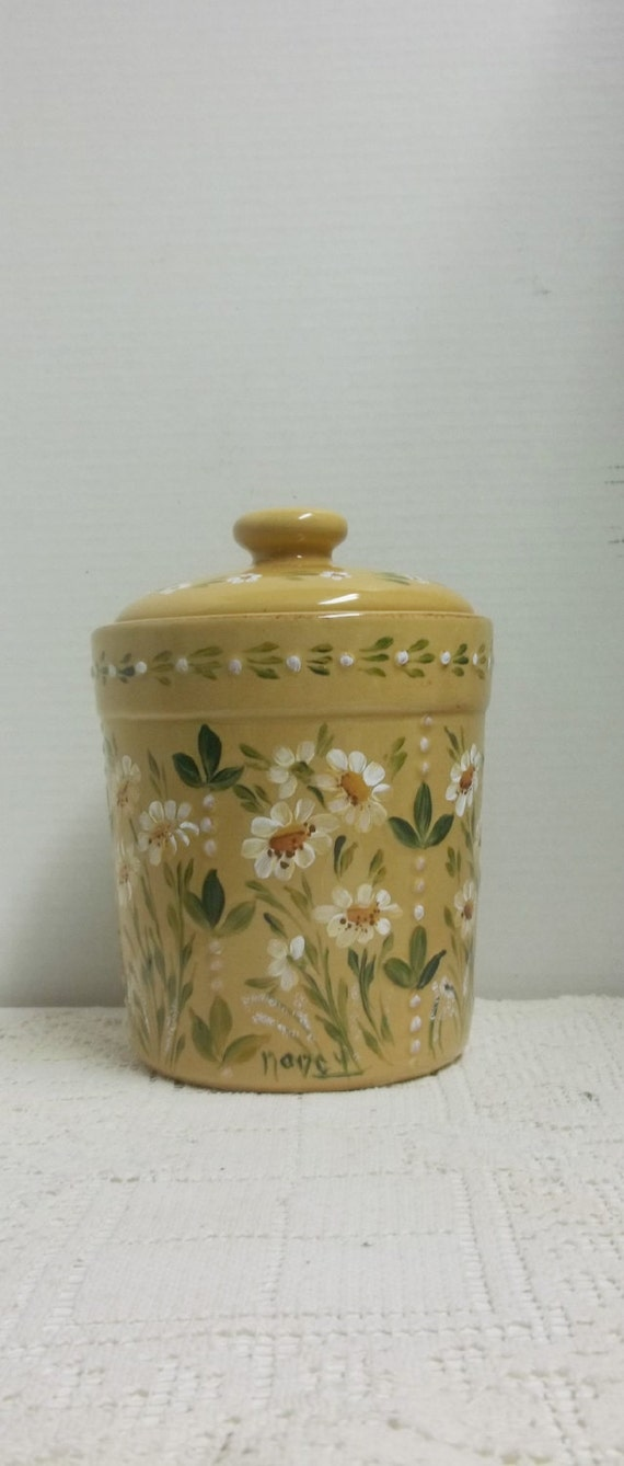 yellow kitchen storage jars canister jar yellow stoneware cookie jar kitchen storage 1694
