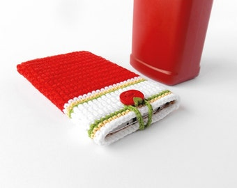 Ketchup bottle phone cover, Red White BlackBerry Z10 phone sleeve, red tomato button phone case, BlackBerry Z10 cozy, geek BlackBerry case