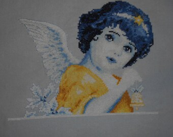 Sweet little angel -completed cross stitch