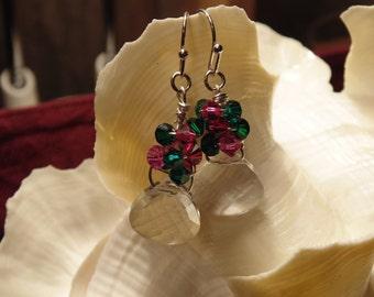 Drop Earrings In Rich Crystal Jewel Tones