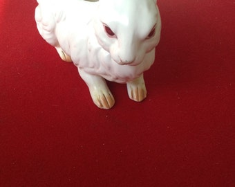 Vintage Lefton Rabbit Bunny Easter Planter