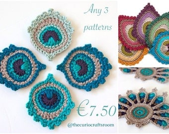 Any 3 Crochet PATTERNS for 7.50 Euros - SAVE up to 4.50 Euros and in addition you do not pay any VAT