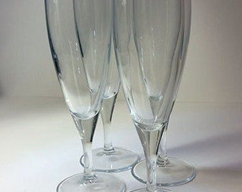 Set of 4 Elegant Champagne Flutes