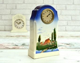 Vintage Ceramic Clock Vintage Mantel Clock Vintage Horology Vintage Home Decor Clock Project Made in Germany