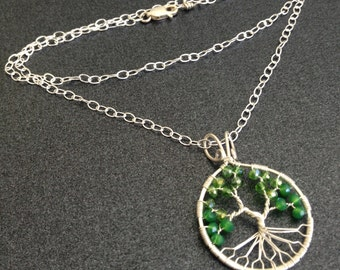 Sour Apple Tree of Life on Silver Chain