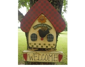 Keep A Song In Your Heart Birdhouse Sign