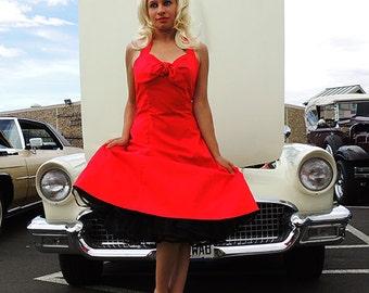 Cherry Red Rockabilly Pin Up Dress