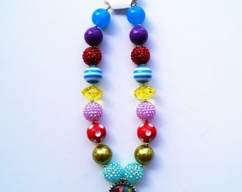 Disney princess necklace - Ariel chunky necklace - Ariel bubblegum necklace - disney princess chunky necklace - little mermaid necklace