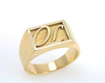 gold signet ring,signature ring,signet ring women,signet ring men,signet ring gold,womens signet ring,mens signet ring,Vintag