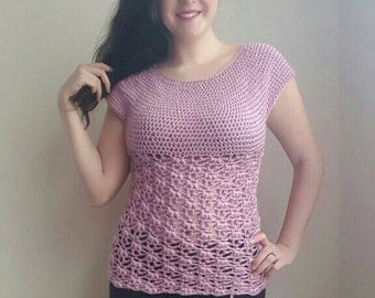 Weeping Willow Top Crochet Pattern - PDF FILE ONLY - Instant Download