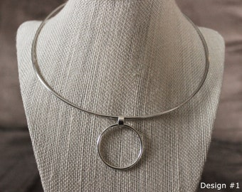 Day Collar with Ring Sterling Silver