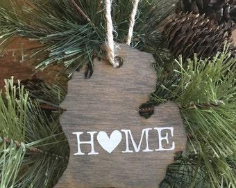 State of Michigan Ornament | Rustic Michigan Ornament | Michigan Wood Ornament | Michigan Ornament | Christmas Ornament | Michigan Wine Tag