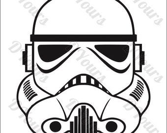 Stormtrooper Star Wars Vector Model - svg cdr ai pdf eps files - Instant Download Files for Laser Cutting Printing CNC Cut Engraving Clipart