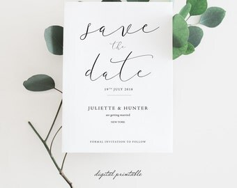 Exceptional Script Save The Date Invitation , Save The Date Invite , Wedding Invite ,  Printable Invitation