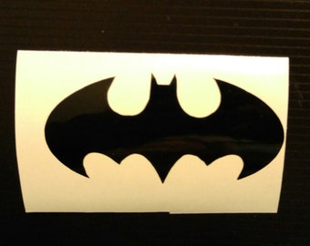Batman Decal - permanent vinyl - perfect for Yeti & Rtic cups, coolers etc. Decal only. Can also personalize with a name. Mancave decor.