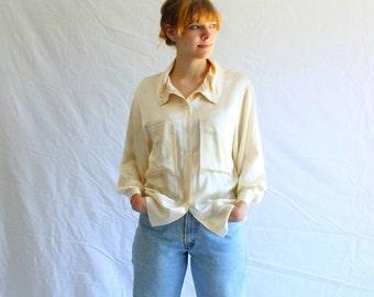70s vintage GUCCI silk blouse authentic