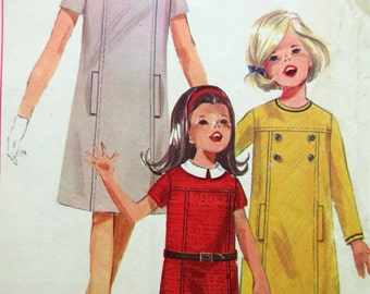 Vintage Simplicity 6212 Sewing Pattern, 1960s Dress Pattern, Girl's Dress Pattern, 1960s Sewing Pattern, Peter Pan Collar, Chest 25 Inches