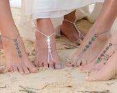 Bridal Gift- Barefoot Sandals- Foot Jewelry- Anklet- Footless Sandals- Barefoot Wedding- Beach Wedding Barefoot Sandals- Bridesmaid Gift