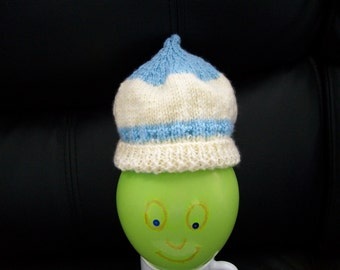 Yellow and Blue Unique Pixie Newborn Baby Hat / Baby Clothing / Baby Gift
