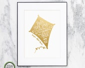 Kappa Alpha Theta ΚΑΘ Faith Hope Love   Genuine Gold Foil   Wall Art Print   Sorority Big Little Reveal Gift   Officially Licensed   KAT-GF
