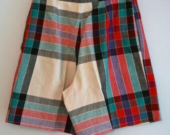 Vintage Ladies Multi-Color Cotton Shorts
