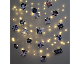 Fairy Lights, Photo Display, picture frame, hanging lights, picture frame collage, picture frame, fairy lights bedroom, wedding lights, LED