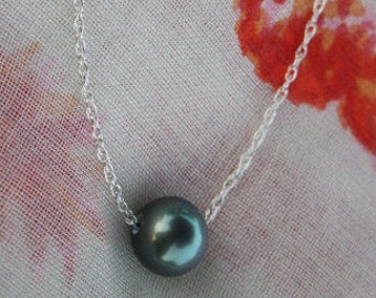 Tahitian Pearl floating necklace