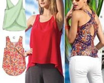 PLUS SIZE Tops Sewing Pattern - Easy Tops With 4 Different Detailed Backs L-XXL