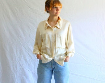 70s vintage GUCCI silk blouse authentic