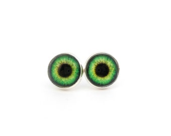 Eyeball Earrings Green Eyes Teen Jewelry Tween Earrings Quirky Earrings Eyeball Jewelry Cool Earrings Trendy Jewelry Evil Eye Earrings