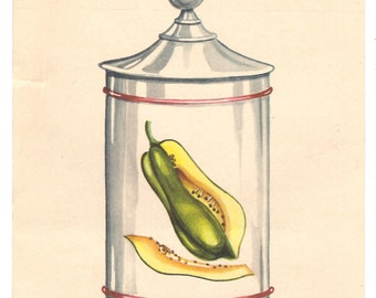 1960's Vintage PHARMACY Spanish Advertising PAPAYA - Medicine ads from past in Spain