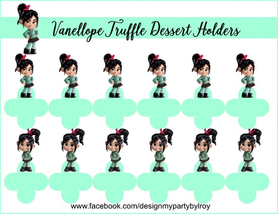 HOLDERS, Vanellope Party Favors, Vanellope Party Supplies, Vanellope