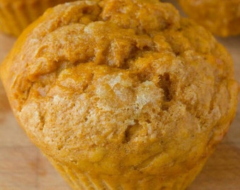 Vegan pumpkin banana muffins