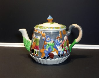 Hand Painted Ceramic Teapot, Unique Tea Pot, Gift Giving