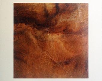 Mineral, original abstract painting, pigments and collage on canvas
