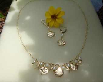 585 goldfilled, begging necklace, glorious summer!