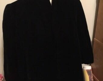 Beautiful black velvet I Magnin  Coat - M
