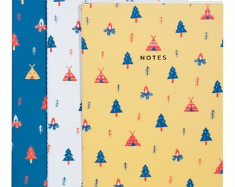 Camping Notebook Adventure 3-Pack