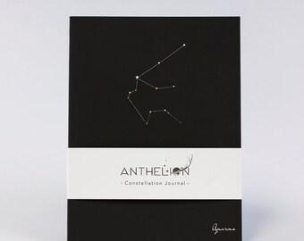 Aquarius Black Constellation Zodiac Sign Journal