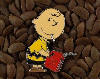 Charlie Brown Peanuts Pins Banksy Graffiti Pin