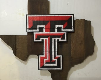 Texas Tech Red Raiders Wooden Wall Sign