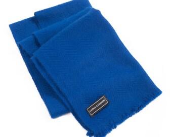 Royal Blue 100% Cashmere Scarf for Men