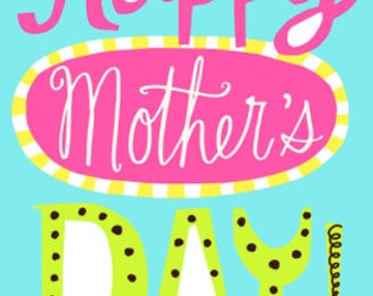 Happy Mother's Day Card, Greeting Card, Card for Mom, Mother's Day Gift, Mom Gift