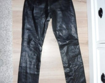 Leather pants size 34 (W24 US)