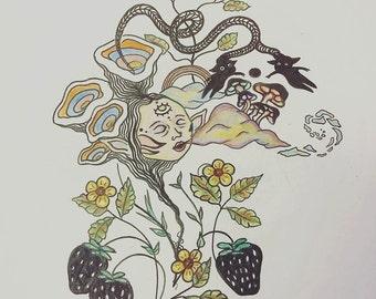 Dream doodle (7x7 print)